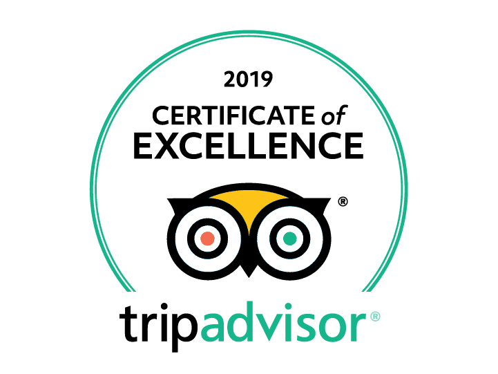 A certificate of excellence issued by tripadvisor