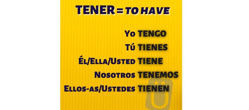verb tener spanish